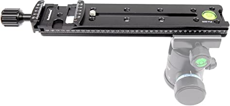 koolehaoda PU-200mm Multifunction lengthened Quick Release Plate base, Dual Dovetail Camera bracket mount for Tripod BallHead (PU-200)