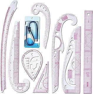 7x verschiedene Nähen French Curve Messen Lineal Set Nähen Schneiderei Werkzeuge