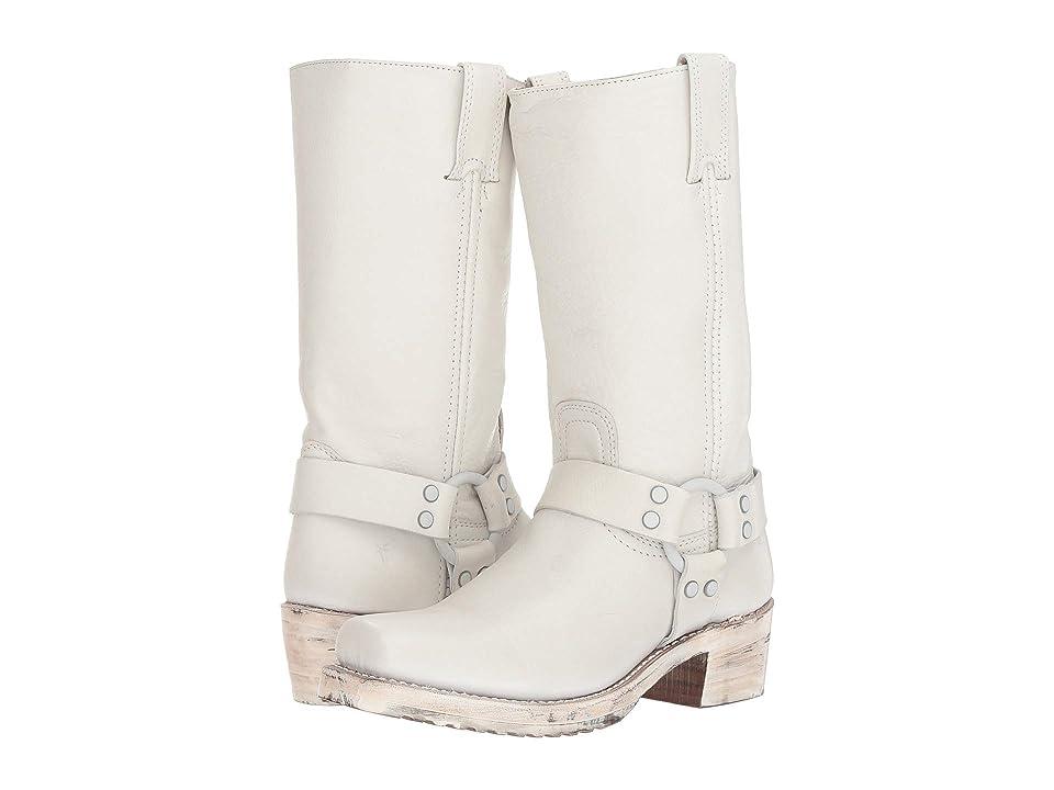 Frye Harness 12R (White Polished Soft Full Grain) Women