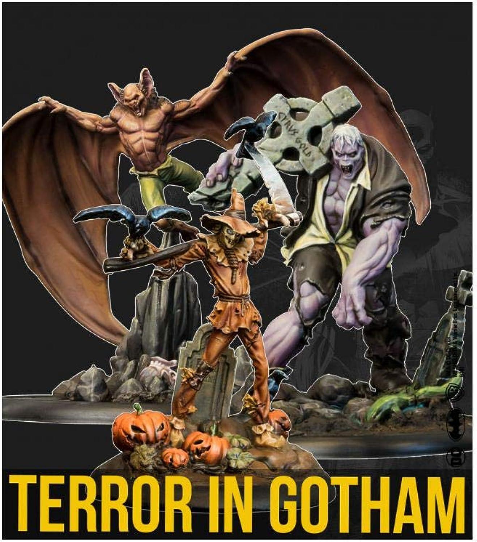 ventas al por mayor Knight Models Juego de Terror en Gotham de Batman Batman Batman miniaturas  Figuras de 35 mm  están haciendo actividades de descuento