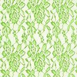 Fabulous Fabrics Spitze apfelgrün, Blume, 150cm breit