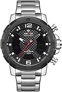 WEIDE WH8504 Dual Display Two Movement Digital Quartz Men Watch 3ATM Waterproof Business Sports Luminous Watch Dual Time Z...