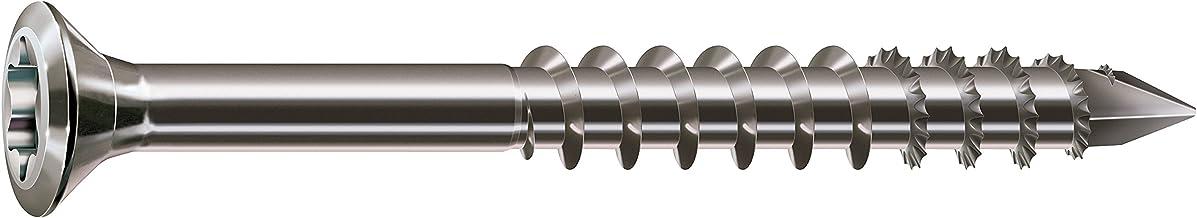 SPAX Gevelschroef van roestvrij staal A2, 4,0 x 40 mm, 100 stuks, T-STAR plus, zeer kleine lenskop, gedeeltelijke schroefd...