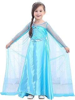 URAQT Disfraz de Princesa Frozen Elsa, Traje del Vestido