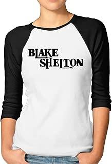 Athletic Baseball Jersey Female Cute T Shirt with Blake Shelton Logo