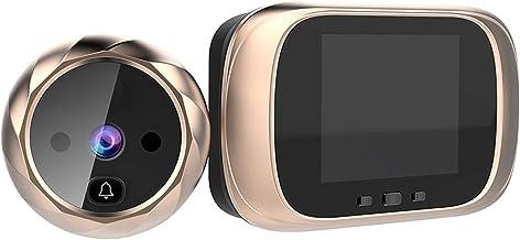 Romacci Visor de porta digital Visor da porta da câmera Campainha Tela LCD de 2,8 polegadas com visão noturna foto fotogra...