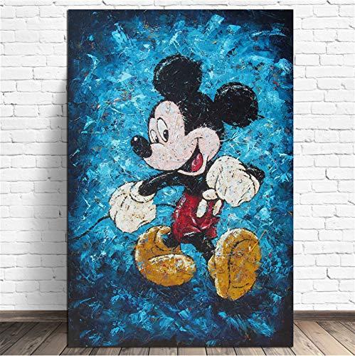 panggedeshoop Cuadros De Lienzo Pinturas Cartel Mickey Mouse Decoración del Hogar HD Arte De La Pared Impreso Hotel Marco Modular De La Sala De Estar40X50CM