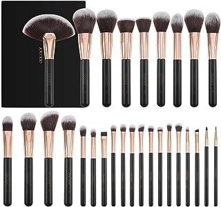 Docolor Makeup Brushes 28 Piece Professional Makeup Brush Set Premium Cosmetics Brushes Synthetic Kabuki Foundation Brush Blending Face Liquid Powder Cream Blush Concealers Eye Shadows Make Up Brushes
