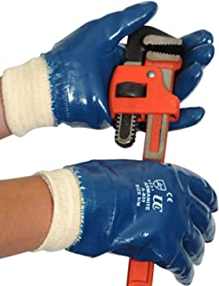 Guantes de trabajo completos, de nitrilo en color azul, de