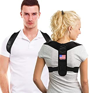 Posture Corrector for Men and Women,  Adjustable Posture Brace and Upper Back Brace for Clavicle Support,  Discreet Back Brace for Upper Back Pain Relief