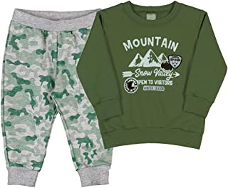 Conjuntos Militar Bebê Menino Moletom Ref:37164-356