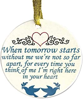 BANBERRY DESIGNS in Loving Memory Christmas Ornament - When Tomorrow Starts Without Me Saying - Memorial Christmas Ornament with Doves and Hearts