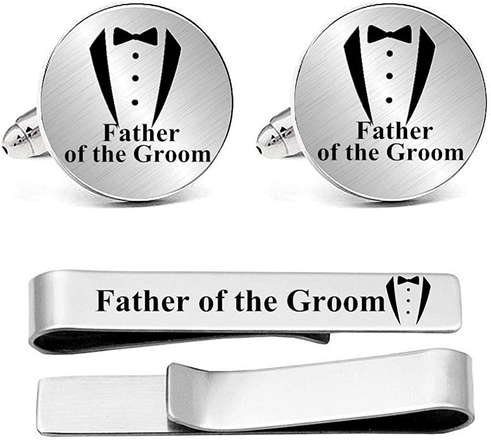 Max 57% OFF Kooer Engraved Free shipping on posting reviews Suit Tuxes Cuff Links Set Personalized Bar Tie We