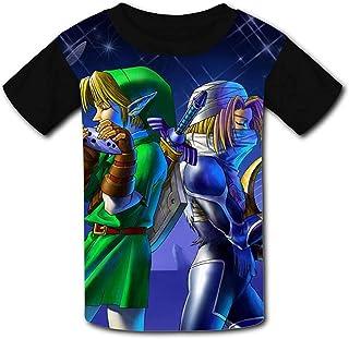 guoweiweiB Camisetas de Manga Corta para niño, ZEL-DA Le-gend Musician Youth Fashion Raglan T-Shirt Tees Kids Graphic Jers...