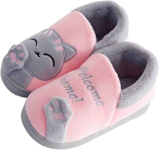 TITAP 18M-10Y Baby Slippers Kids Home Slippers Girls Cotton Cartoon Rabbit Winter Boys Slipper Indoor House Bedroom Baby Soft Flats Shoes (Age:9.5-10Years, Pink)