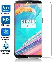 REY Protector de Pantalla para One Plus 5 T/ONEPLUS 5T, Cristal Vidrio Templado Premium