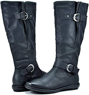 DREAM PAIRS Women's Fur-Lined Knee High Winter Boots Wide Calf