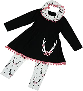 Jupe d/échir/ée par Denim de Hauts Occasionnels r/égl/és pour lenfant en Bas /âge Haokaini T-Shirt de Costume de Broderie de Filles de Rose
