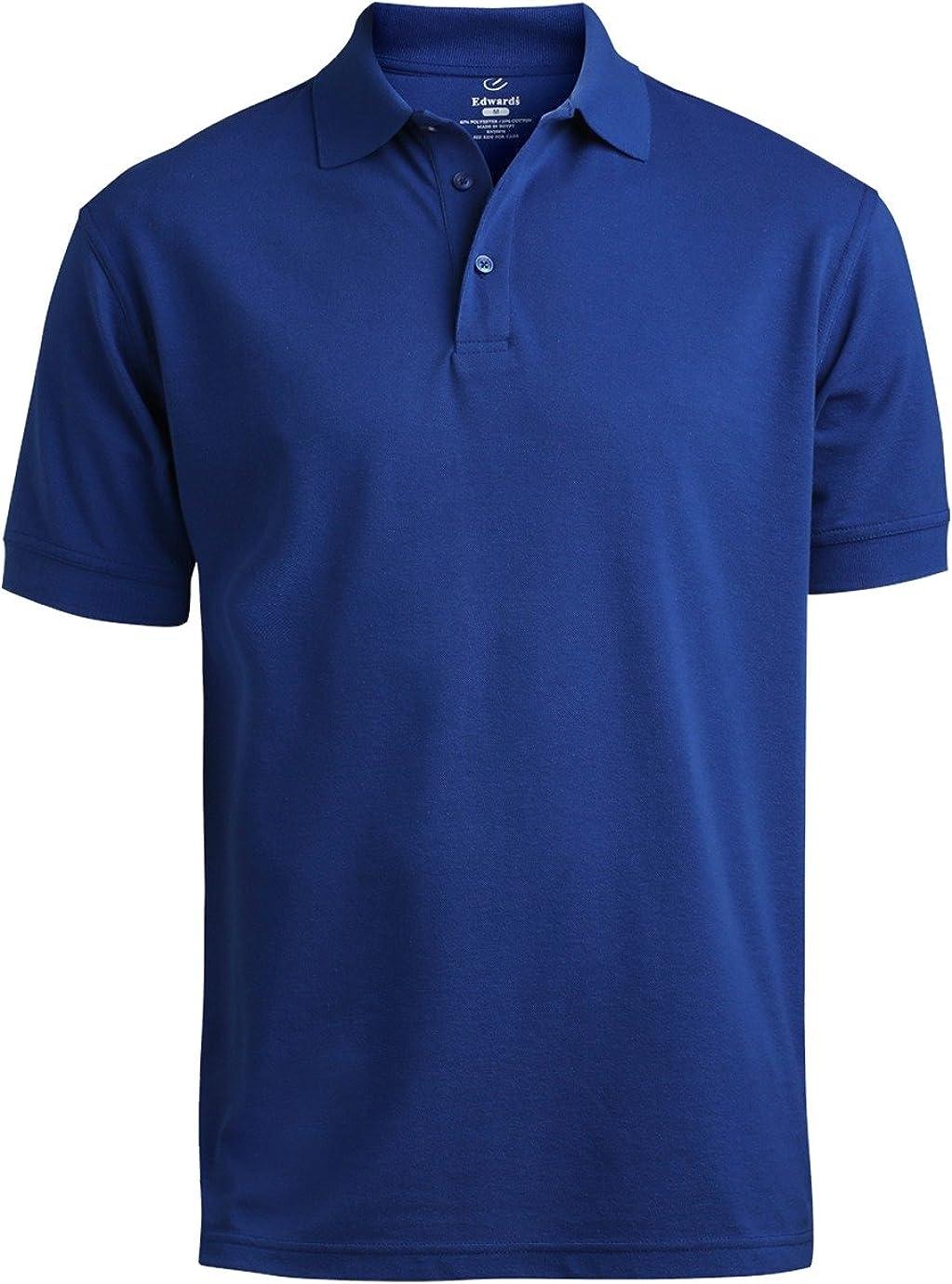 Ed Garments Men's Soft Pique Polo Shirt, ROYAL, XXXXX-Large Tall