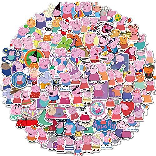 WYZN 100 unids Piggy Page Sticker Dibujos Animados Linda Personalidad Creativa Niños Scrapbook Decoración Notebook Computer Impermeable Scooter Vinilo Adulto Adolescente Graffiti Sticker