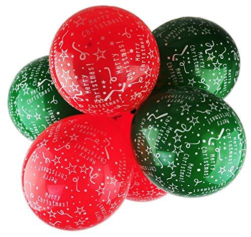 Happium - Globos de látex de 30,5 cm con estampado navideño, paquete de 10