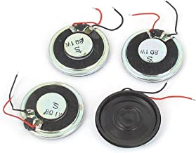 uxcell a15102900ux0379 1W 8 Ohm Magnet Mini Loudspeaker MP3 MP4 Player Speaker 28mm Dia Pack of 4