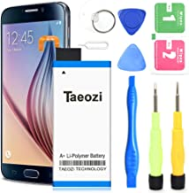 Galaxy S6 Edge Battery, Upgraded 2800mAh Li-Polymer Battery Replacement for Samsung Galaxy S6 Edge EB-BG925ABE SM-G925V G925T G925P / S6 Edge Battery Replacement Kit [ 24 Month Warranty ]