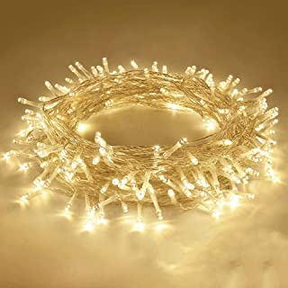 Kueh Extendable 10Metre 100LED Christmas String Lights, Waterproof Clear Wire Twinkle Lights for Indoor & Outdoor Use,Gard...