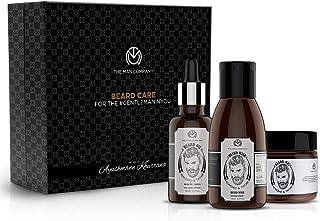 The Man Company Beard Growth Kit | Almond & Thyme | Beard Oil 30ml+ Beard Wash 100ml+ Beard Wax 50gm | Nourishment & Growt...