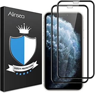 Alinsea Screen Protector for iPhone 11 Pro Max/iPhone Xs Max [2 Pack] [Case Friendly, Full Coverage] 3D Tempered Glass [Fa...