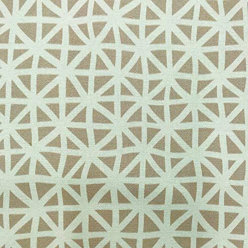Kt KILOtela Tela por Metros de loneta Estampada Digital - Half Panamá 100% algodón - Ancho 140 cm - Largo a elección de 50 en 50 cm | Rayas, Cuadros y Rombos - Beige, marrón