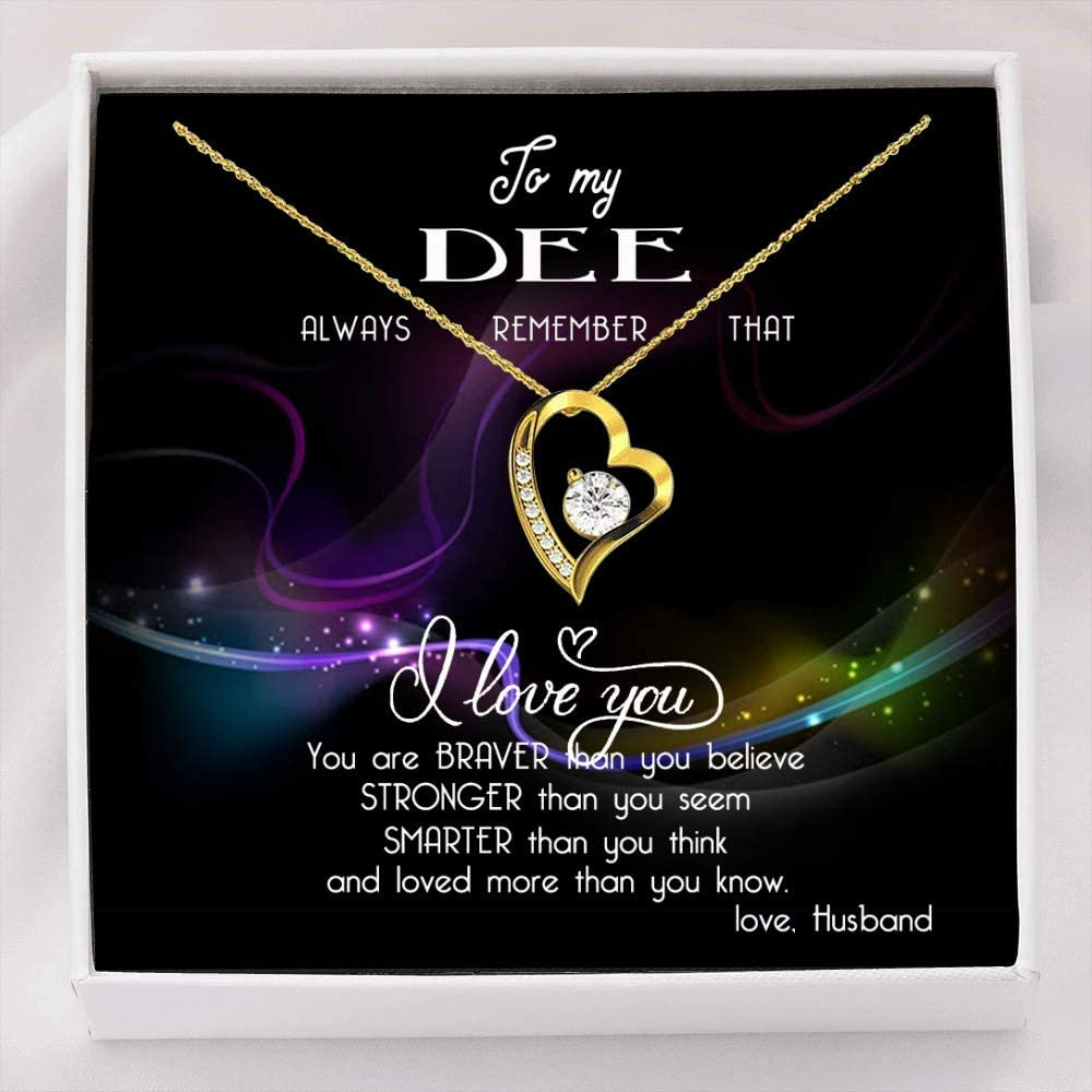 Heart Necklace Safety and trust with Message - to That Always Challenge the lowest price I Dee My Remember