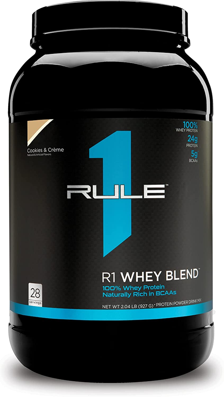 Rule One Proteins R1 Whey Blend Cookies - Fast-Act 24g Crème Los Angeles Mall Sales for sale
