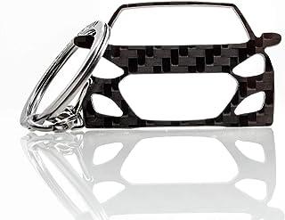 BlackStuff Carbon Karbonfaser Schlüsselanhänger Schlüsselbund Kompatibel mit i40 2011 2019 BS 618