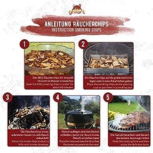 grillart® Premium BBQ Räucherchips XL Mix 3er Set für das besondere Raucharoma – sehr rauchaktives Räucherholz/Holzhackschnitzel – Vorteilspack 3X 750g Beutel