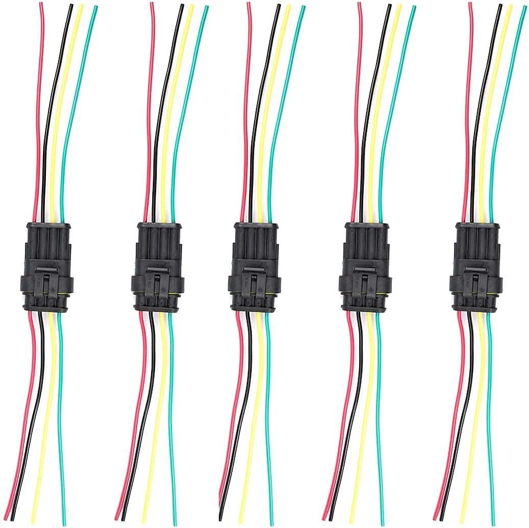 Max 88% OFF 4 Pin store Connector Automotive Waterproof Elec