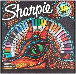 Sharpie - Rotulador permanente (30 unidades), diseño de dragón