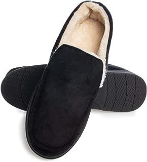 Gold Toe Mens Slippers Memory Foam House Slippers For Men Indoor Outdoor Antislip Warm Loafers Men