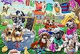 KUANGPT 1000/500 Piezas de Rompecabezas Rompecabezas para niños Adultos Juego clásico Creativo de Dibujos Animados Arte Anime Rompecabezas para niños educación - Varios Perros mascotas-1000 PCS