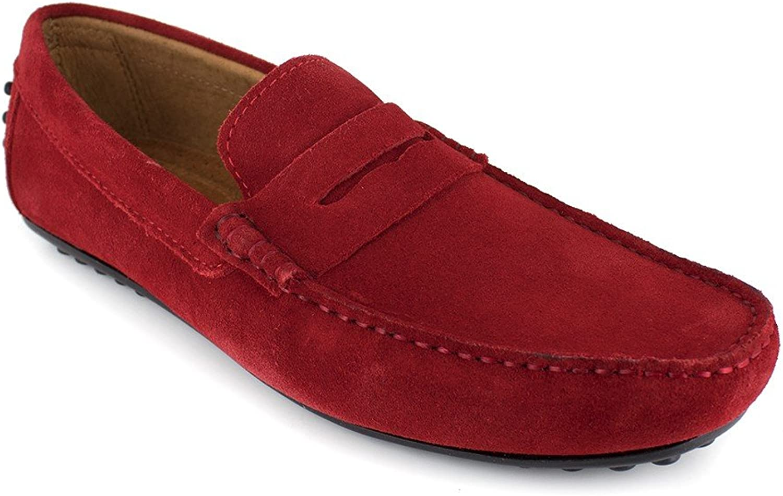 J.Bradford Loafer Red Leather JB-Robe