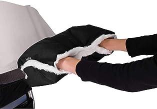 IntiPal Kinderwagen Handwärmer, Handwärmer Handschuhe Handmuff mit Fleece, Universal Kinderwagen Muff für Kinderwagen Buggy Wasserfest Winddicht Schwarz