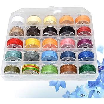 SUPVOX 1 caja de cordón encerado 25 colores de hilos trenzados de ...