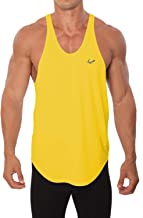 Pitbull Gym Clothing Mens Stringer Tank Tops - Dri Fit Bodybuilding Y Back Tank Tops for Men