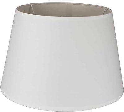 Abat-jour rond en coton blanc. Dimensions : 38 x 38 x 23 cm. Matériau : coton (référence : 3012382).
