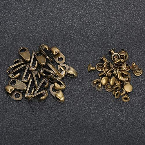 Buisvormige metalen studs Stevige, duurzame doorvoertules met dubbele dop Oogjes Bronzen tassen Handgereedschap voor wandelschoenen Kleding