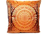 Indische Seide Deko Kissenbezüge 40 cm x 40 cm, Extravaganten Design für Sofa & Bett Dekokissen,...
