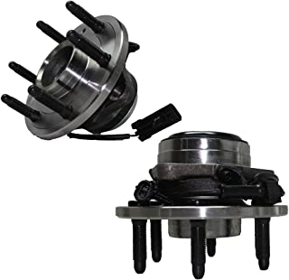 Detroit Axle 2WD Only 6-Lug Front Driver and Passenger Side Wheel Hub and Bearing Assembly for - 2WD Only 2000-2006 Silverado 1500, Sierra 1500, Yukon No Denali or Z71