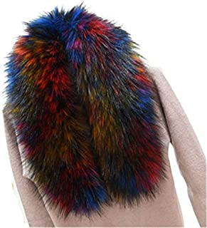 Faux Fur Collar Scarf Hood Collar Shawl Stole Neck Warmer for Winter Coat