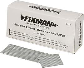 Fixman 724126 Clavos Lisos Galvanizados Calibre 18, Set de 5000 Piezas