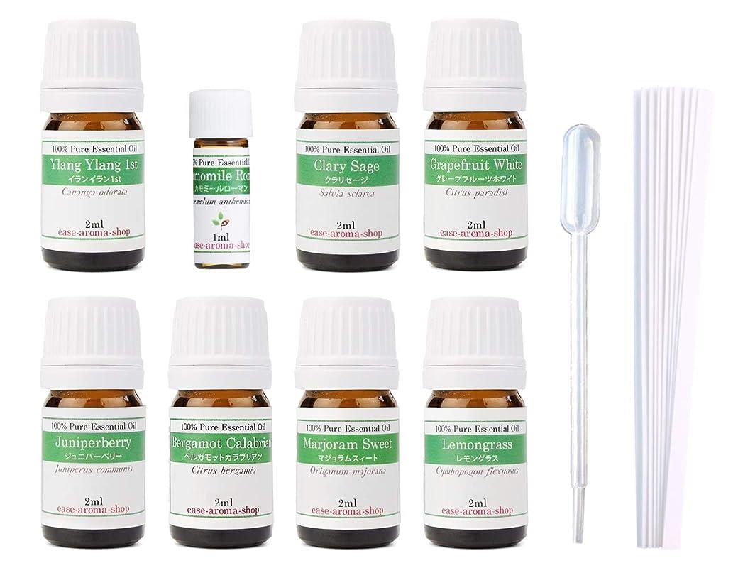狂う植物学夜間【2019年改訂版】ease AEAJアロマテラピー検定香りテスト対象精油セット 揃えておきたい基本の精油 1級 8本セット各2ml